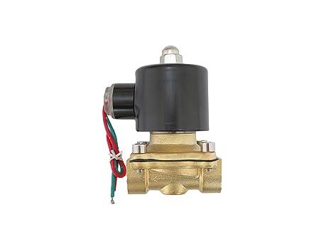 1//2 inch 110V-120V AC Brass Electric Solenoid Valve NPT Gas Water Air N//C JEM/&JULES