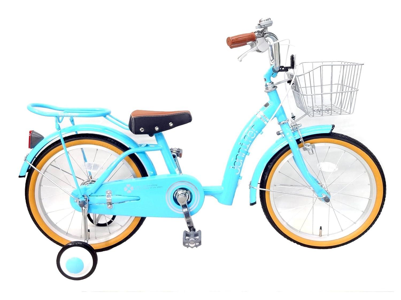 ジェニファー (JENNIFER) パステルブルー 16インチ 補助輪付き シングルギア ワイヤーカゴ付き パイプキャリア ※組立式 幼児用自転車 キッズサイクル   B01N0L4S50