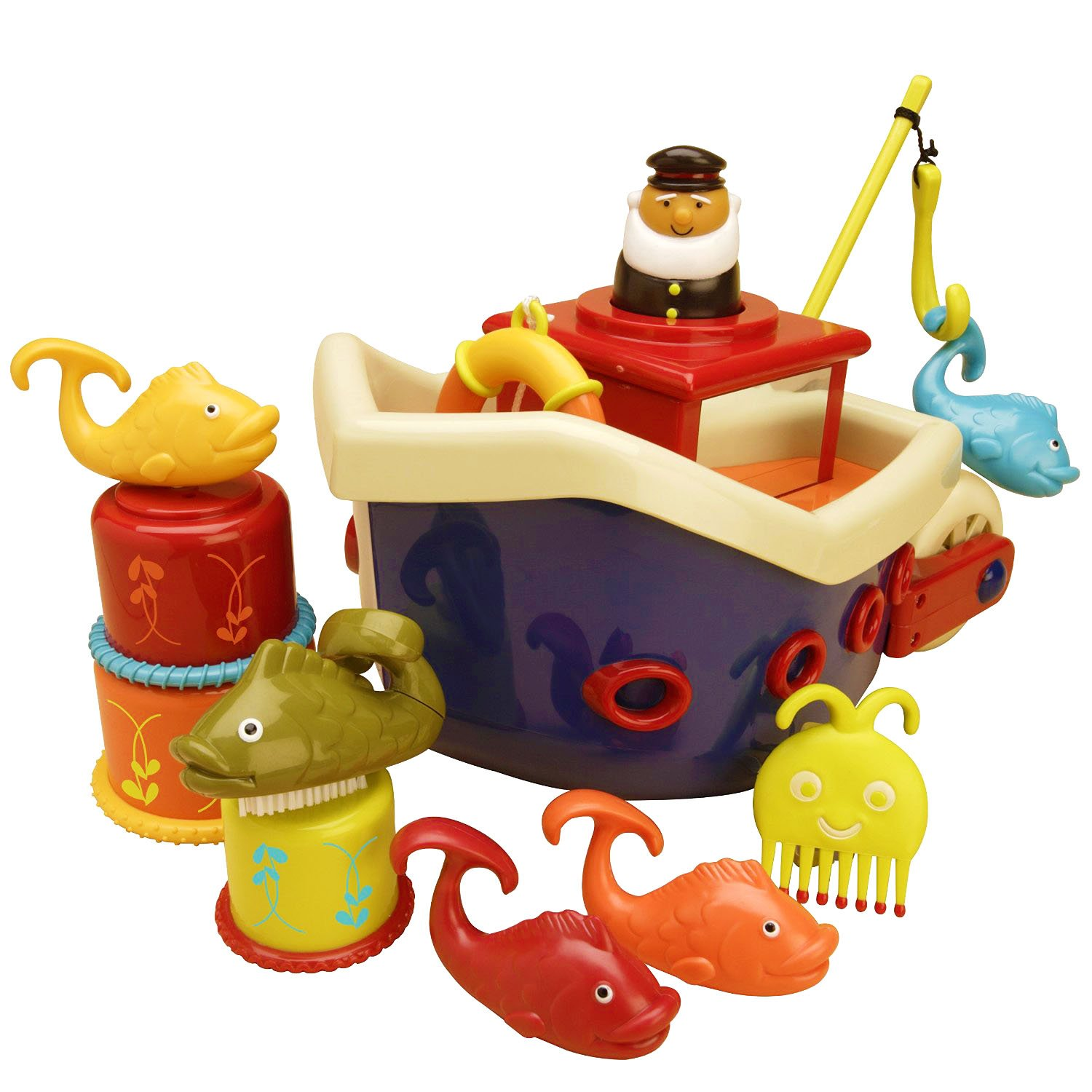 Amazon B Fish N Splish Bath Boat Toys & Games