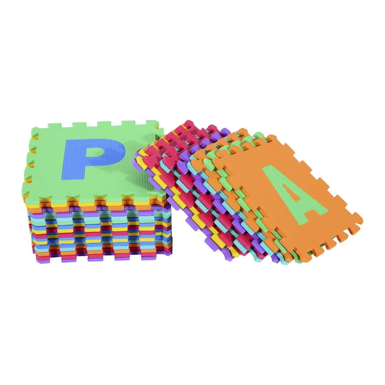 Puzzle goma EVA de 26 piezas | Alfombra infantil puzzle de letras | Alfombra puzle (26 piezas) | Alfombra goma para bebé | Alfombra bebe | Alfombra ...