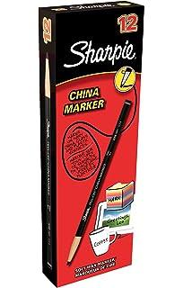 Sharpie - Caja de marcadores chinos (12 unidades, color negro)