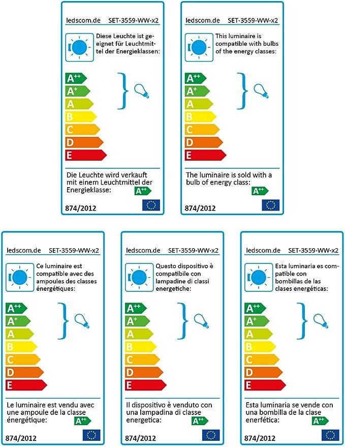 Interrupteur et E27 Douille ledscom.de Textilkabel LEHA avec fiche 3m Noir