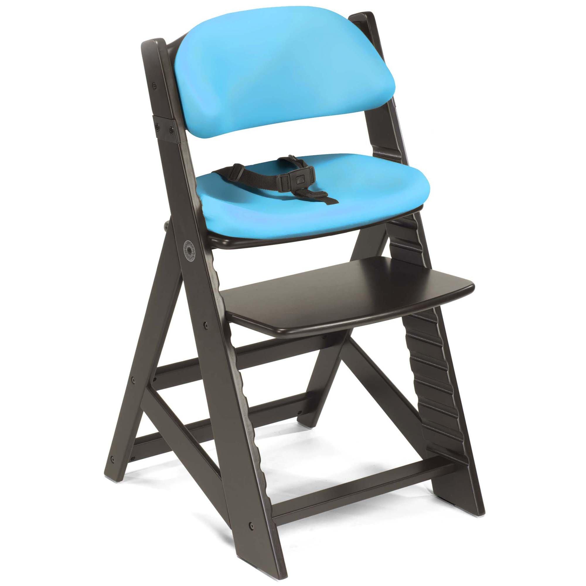 Keekaroo Height Right Kids Chair with Comfort Cushions - Aqua - Espresso Base