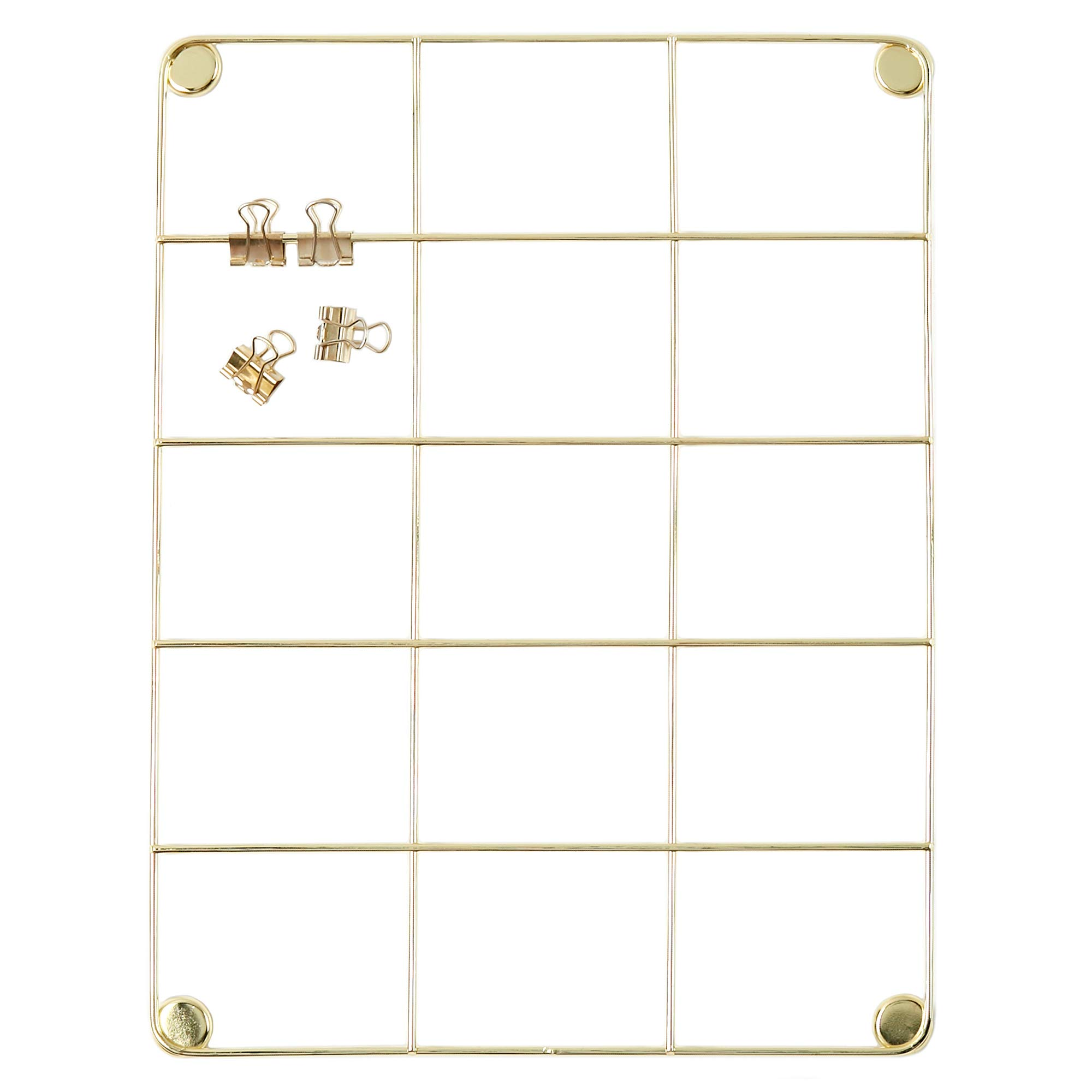 Wall Display and Planning Grid Files and Memo Sheets Mesh Organizing Board of Workspace and Home Office for Hanging Pictures Rose Gold, 17.7 x 25.6 Metal Wire Tool and Stationery Storage Panel