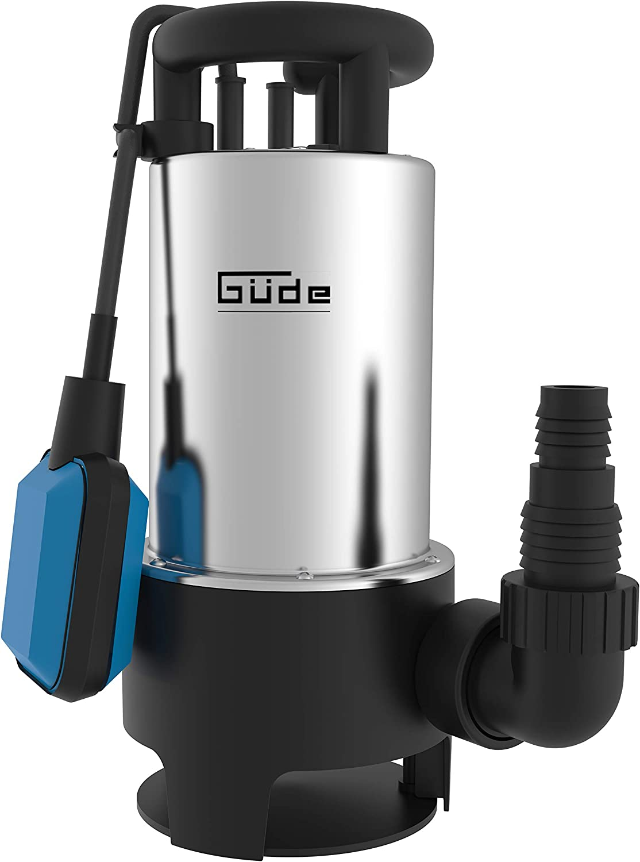 Güde 94639GS 1103Pi Bomba sumergible de aguas residuales, 230 V, 1100 W, Plata/Azul/Negro
