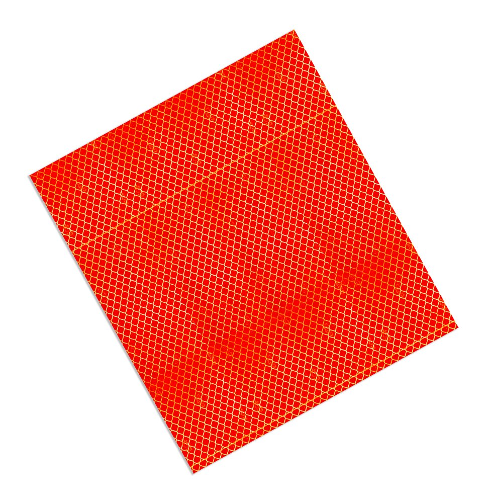 Pack of 10 3M 3432 Red Micro Prismatic Sheeting Reflective Tape 203mm X 254mm