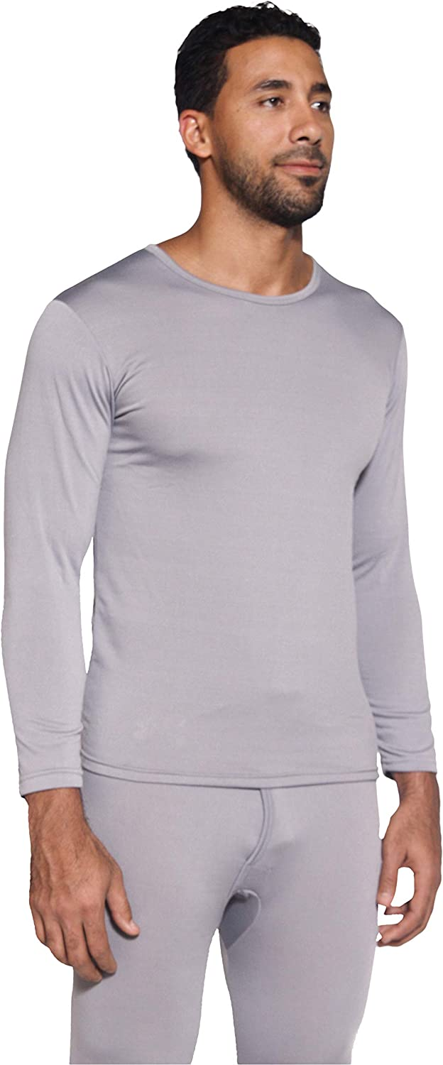 Mens Ultra-Soft Long Sleeve Crew Neck Thermal Shirt Fleece Lined Compression Baselayer Top Underwear 1 /& 3 Pack