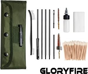 GLORYFIRE Universal Gun Cleaning Kit Hunting Rilfe Handgun Shot Gun Cleaning Kit for All Guns with Case Travel Size Portable Metal Brushes
