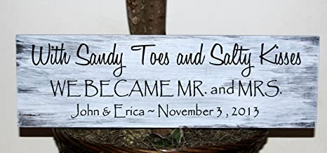Amazon.com: Letrero de madera primitiva con Sandy Toes y ...
