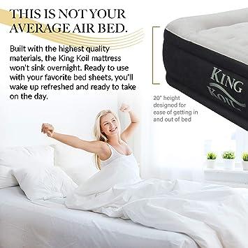 Amazon.com: King Koil colchón inflable elevado de ...