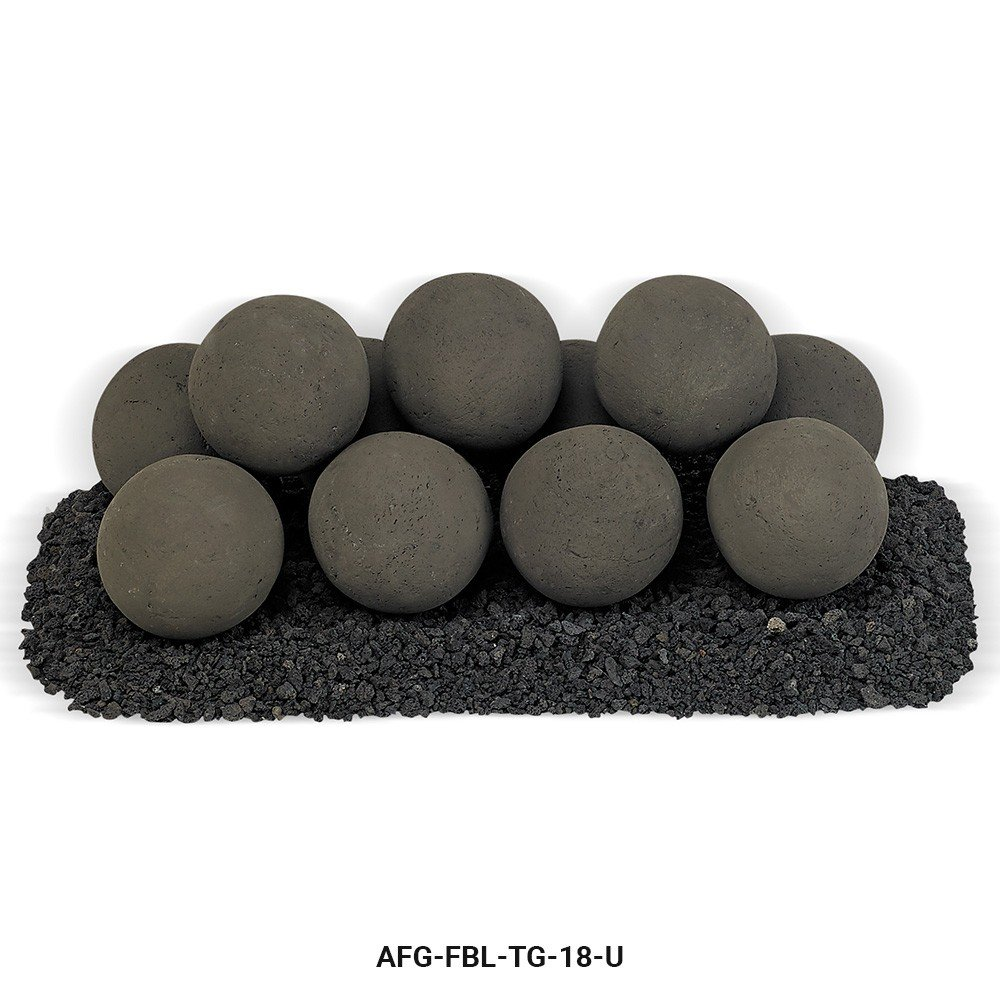 Thunder Gray Lite Stone Ball Set - Uniform 4'' by American Fireglass