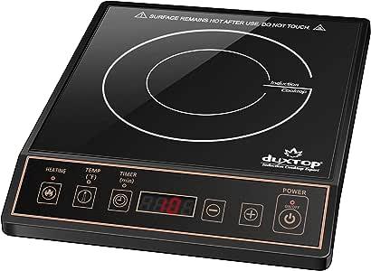 Duxtop 1800W Portable Induction Cooktop Countertop Burner, Gold 9120MC/BT-M20B