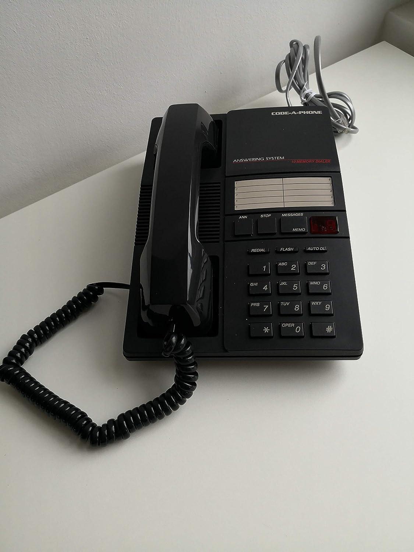 wei/ß Code-A-Phone 1960 analoges Telefon und integriertem Anrufbeantworter mit Mikrokassette
