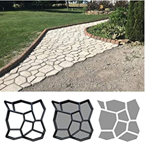 EVI Concrete Molds and Forms, Beautiful DIY Stepping Stones for Garden Walkway, Cement Molds for Walkways (16.9
