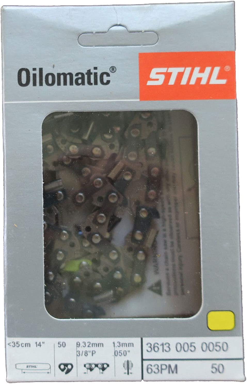 STIHL 3//8 Pitch PS RACING CHAIN 14 inch bar 50 drivers full chisel .050 gauge