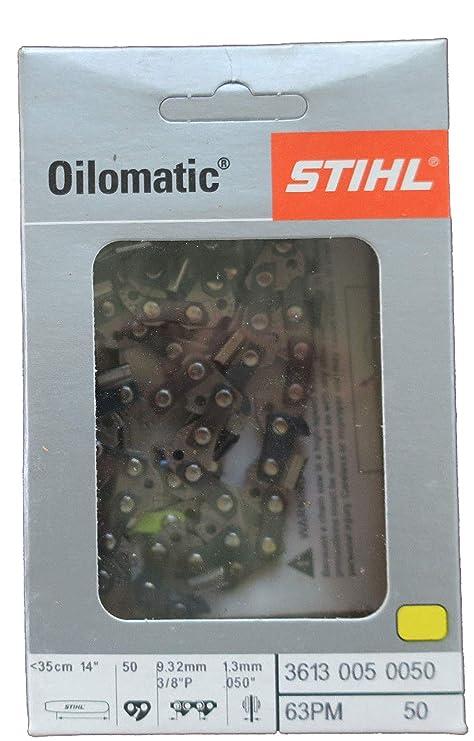 Stihl 36360000050 S/ägekette 3//8 1,3 50 GL-35 cm PMC3 8 Zoll 1,3 mm GL-35 mm