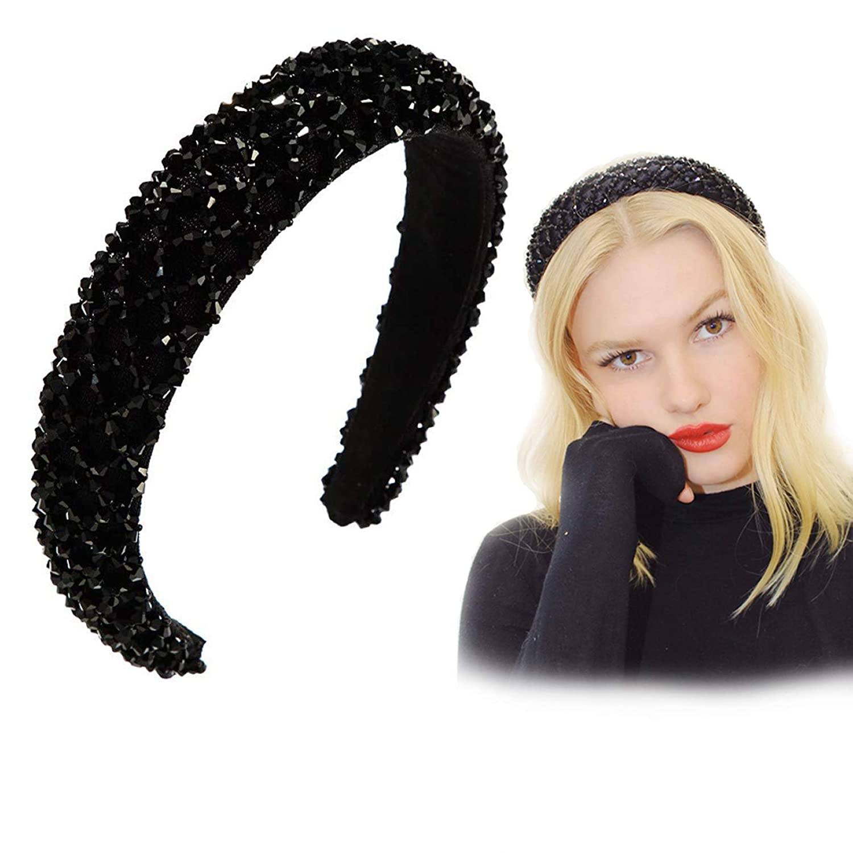 Women/'s Crystal Hair Hoops Headband Head Piece Hairband Elegant Hair Accessories