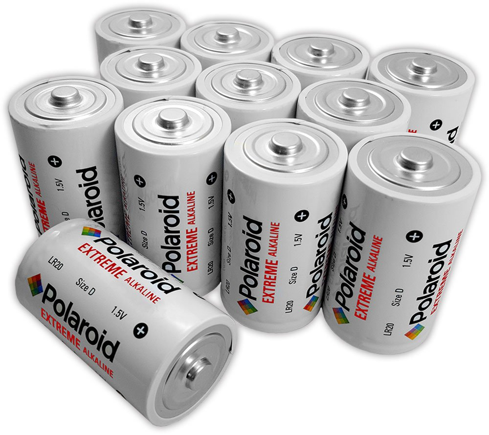 Polaroid Extreme D Cell 1.5V LR20 Alkaline Batteries (12-Pack)