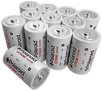 Polaroid Extreme D Cell 1.5V LR20 Alkaline Batteries (12-Pack)