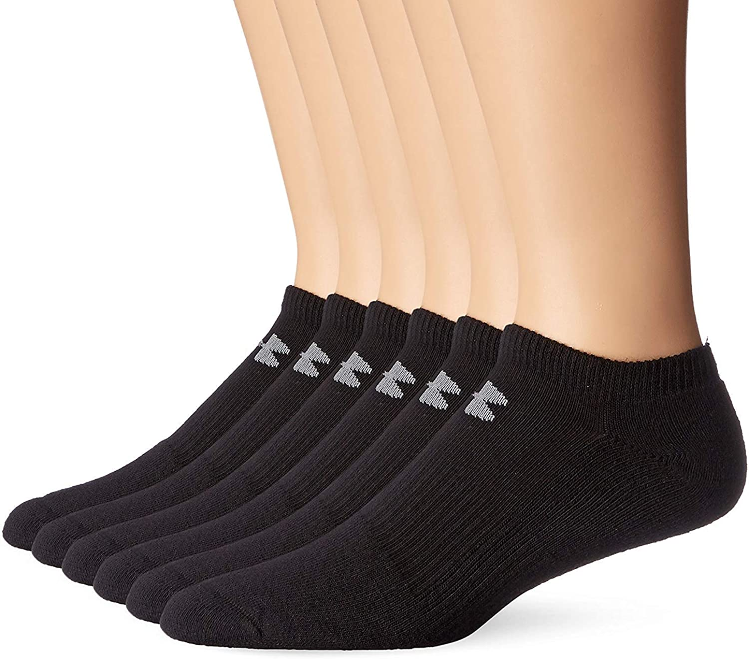 Under Armour UA HeatGear Performance No Show Socks 6 Pack Men/'s sz L Large