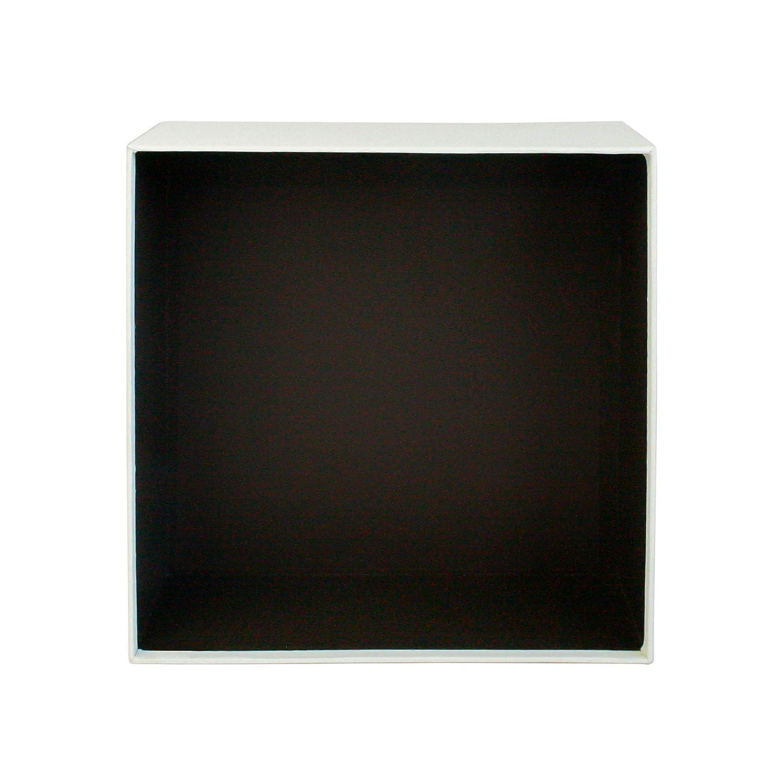 Interior Marr/ón Chocolate y Cinta Decorativa Con Lazo Rayas Emartbuy R/ígido Lujo Caja de Regalo de Presentaci/ón Con Forma Cuadrada 23.5 cm 23.5 cm 10 cm,Caja de Crema Con Tapa Roja