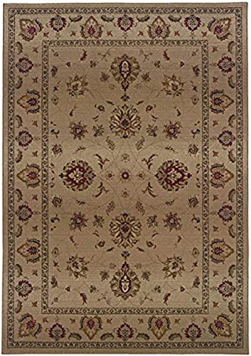 Oriental Weavers 034J Genesis Area Rug, 9-Feet 9-Inch by 12-Feet 2-Inch, Beige Red