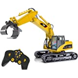 Top Race 15 Channel Remote Control RC Fork Excavator, Construction Grapple Fork Tractor ~ Metal Fork ~ (TR-215)