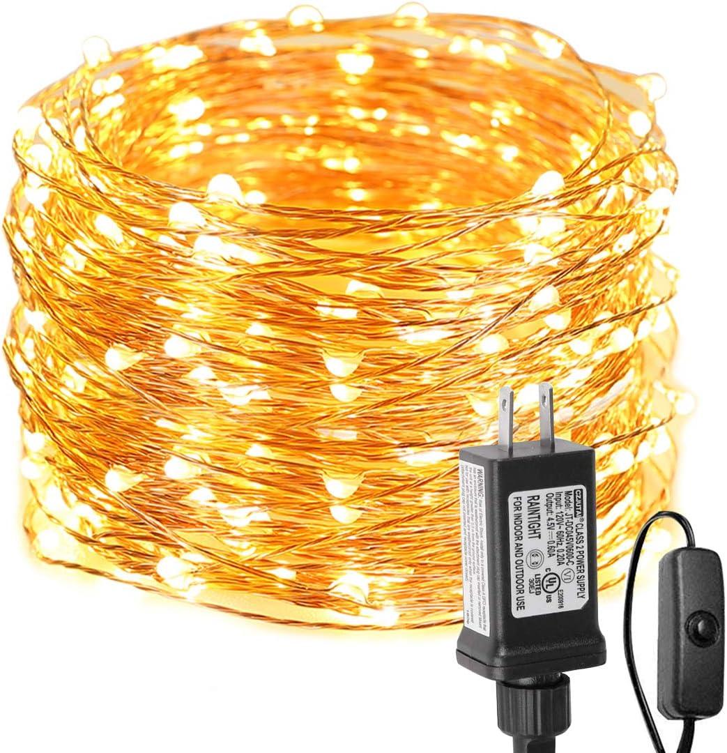 Waterproof String Light Fairy Lights 20-1000 LED Plug in Outdoor Christmas Light