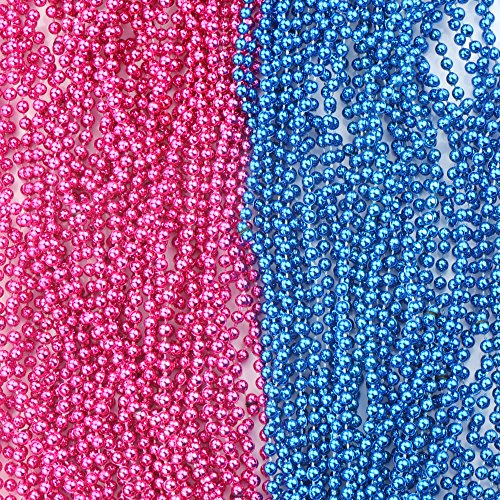 SOTOGO 50 Pcs Baby Gender Reveal Beads Baby Shower Announcement Party 4mm Round 30 inch by SOTOGO