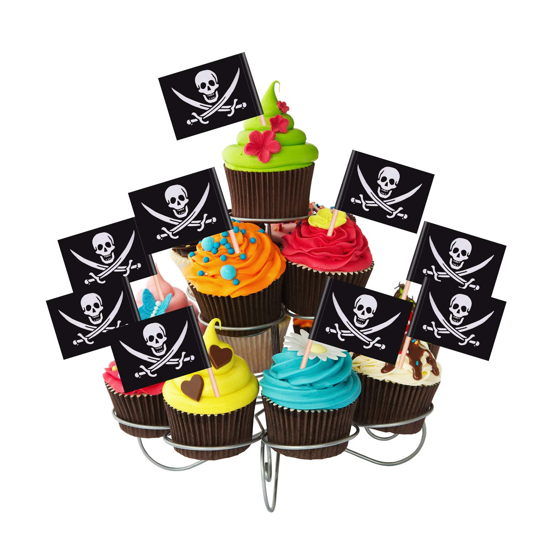200 Pi/èces 200 Pi/èces Drapeaux de Cure-Dents de Cocktail de Pirate G/âteau Toppers pour D/écoration de Nourriture Ap/éritif Cocktail Cupcake d/'Enfants D/écorations de F/ête dAnniversaire Halloween