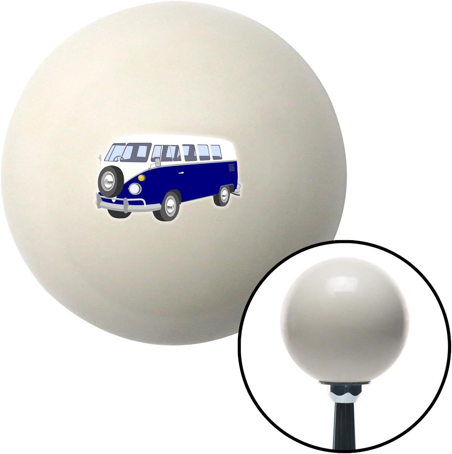 American Shifter 77351 Ivory Shift Knob with M16 x 1.5 Insert Blue Camper
