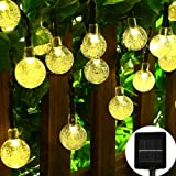 APEXPOWER Christmas Solar String Lights 30LED 21ft 8 Modes Waterproof Outdoor Indoor Decorative Lights for Patio Lawn Garden Home Holiday Party Xmas Tree (Warm White)
