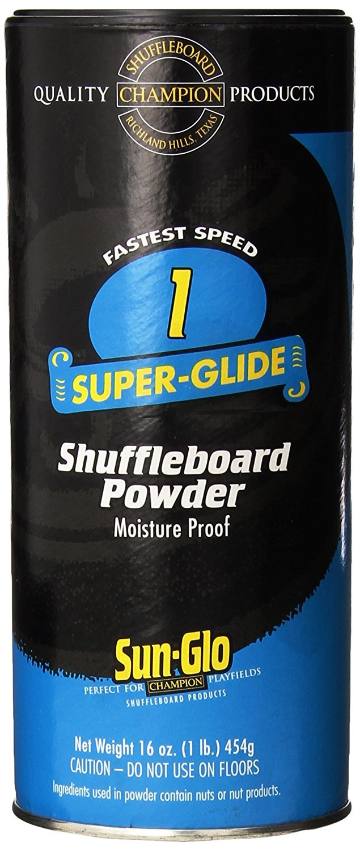 Sun-Glo Speed 1 (Super Glide Wax) Shuffleboard Table Powder, 16 oz. Can by Sun-Glo