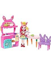 Enchantimals Bunny en cocina divertida, muñeca con mascota y accesorios (Mattel FRH47)