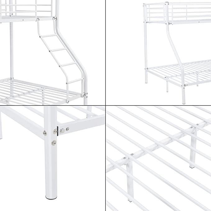 neu.haus Litera de metal Para 3 personas 210cm x 147,5cm x 168cm Somier Blanco: Amazon.es: Hogar