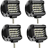 TURBO SII LED Pods Light Bar 4 Inch 48w Driving Fog Off Road Lights Quad Row Waterproof Spot Beam LED Cubes Lights for Truck