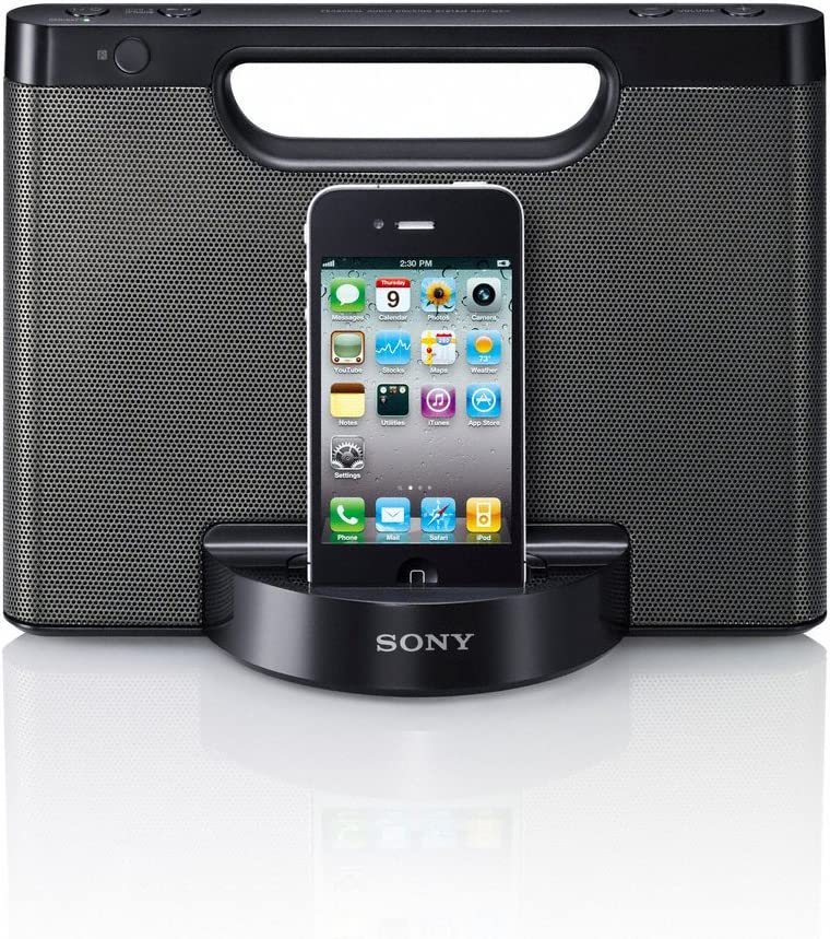 Sony RDPM5IP 30-Pin iPhone/iPod Portable Speaker Dock (Black)