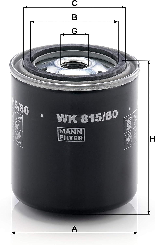 Original Mann Filter Kraftstofffilter Wk 815 80 Für Nutzfahrzeug Auto