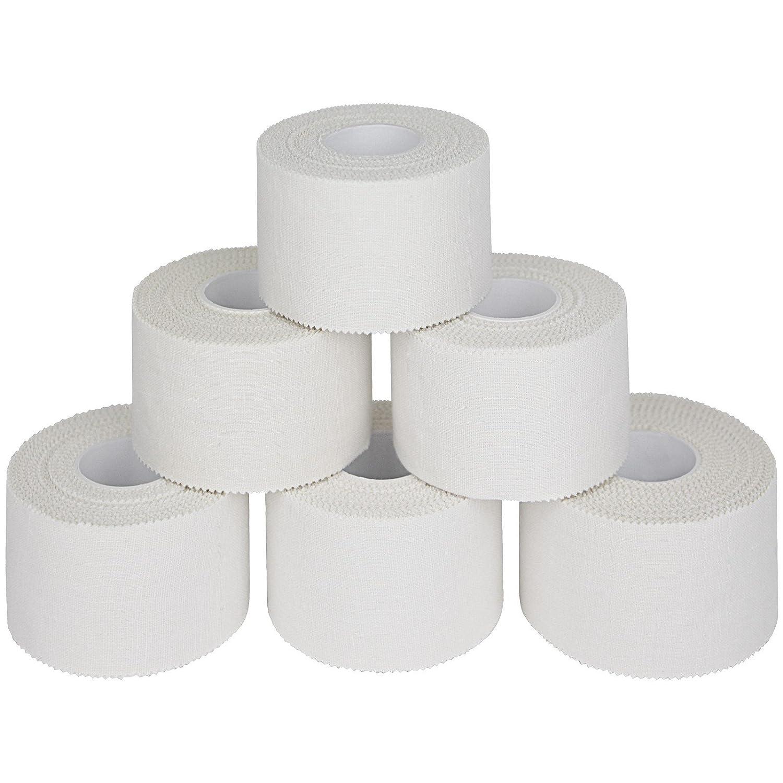 6 x Sport tape 3,8 cm x 10m, Bianco ALPIDEX