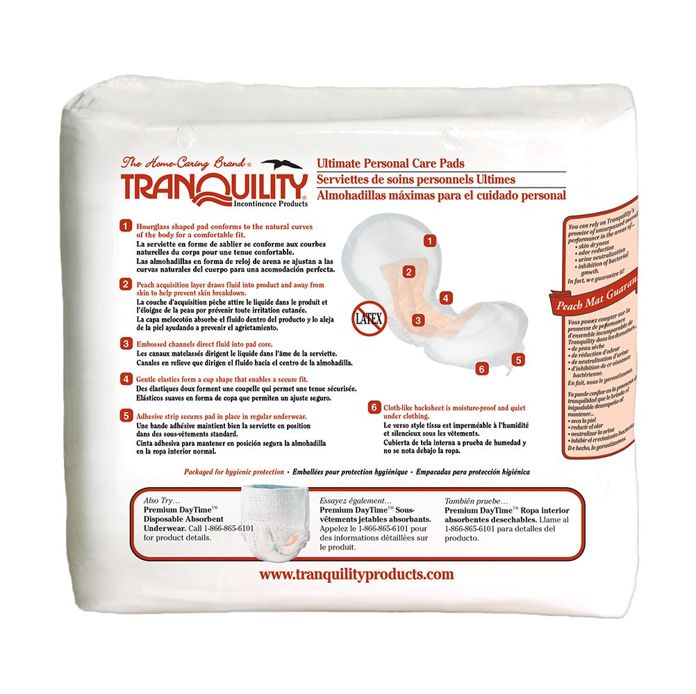 Amazon.com: Tranquility Incontinence Personal Care Pads for Men or Women - Ultimate - 96 ct: Health & Personal Care