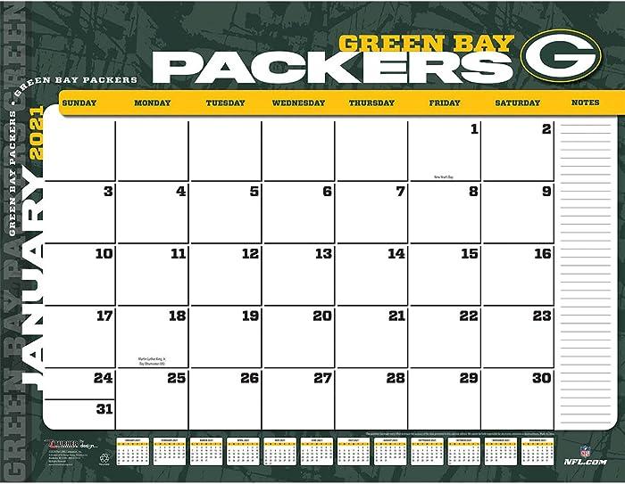 TURNER Sports Green Bay Packers 2021 22X17 Desk Calendar (21998061537)