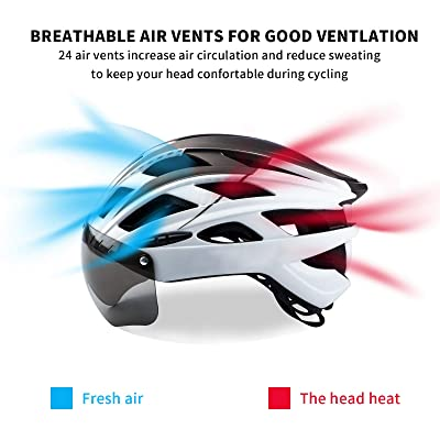 Details about  /Cycling Sport Bike Helmet//Detachable Magnetic Goggles Mountain Road Bicycle Z4Z6