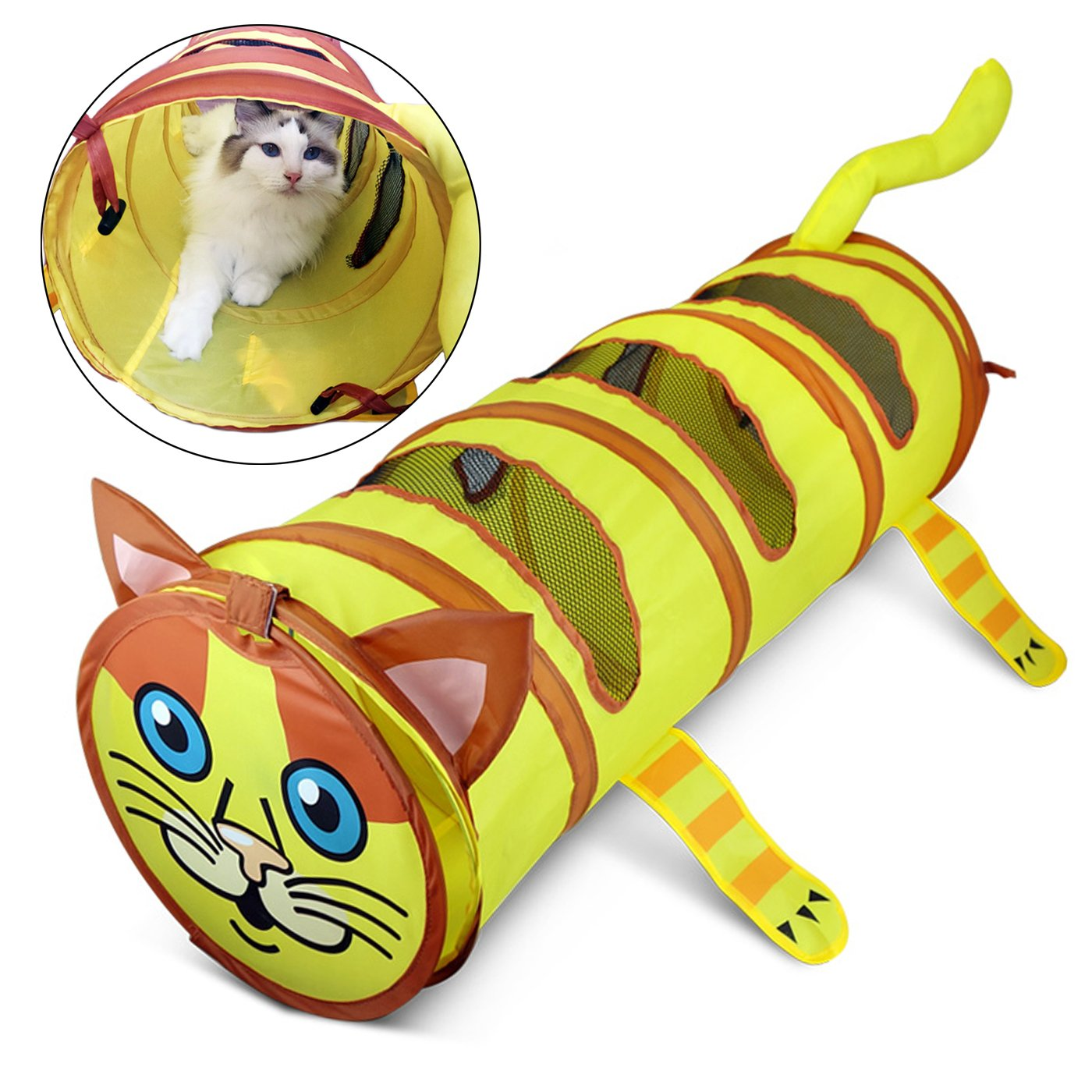 Alfie Pet by Petoga Couture - Destry Collapsible Tunnel Toy for Cats
