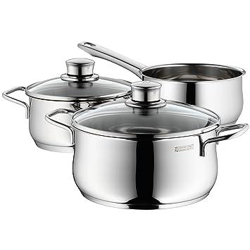 WMF 0730299990 Diadem Plus - Batería de cocina (3 piezas)