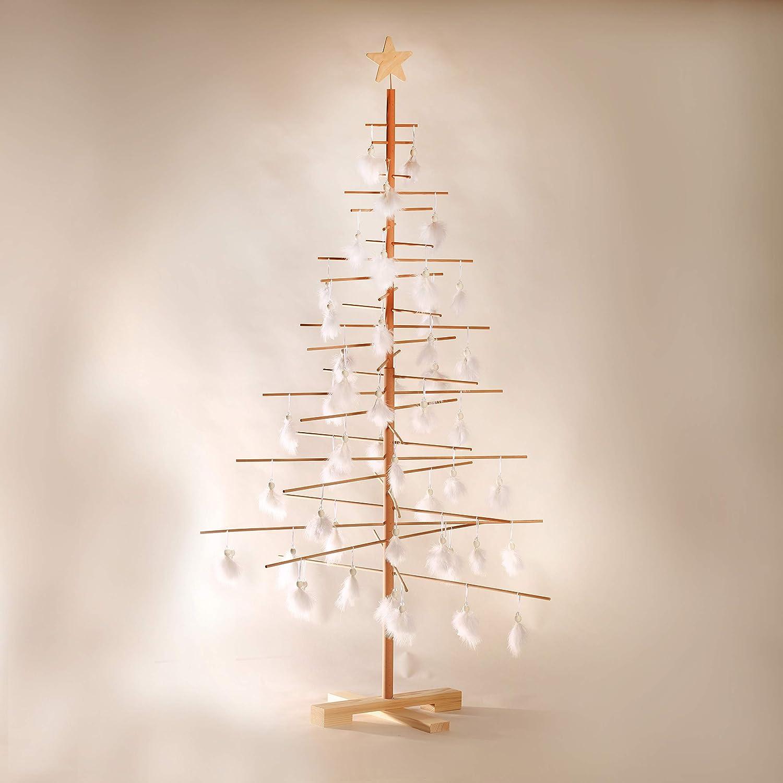 48 x 48 x 75 cm Xmas3 S Albero di Natale in Legno Naturale