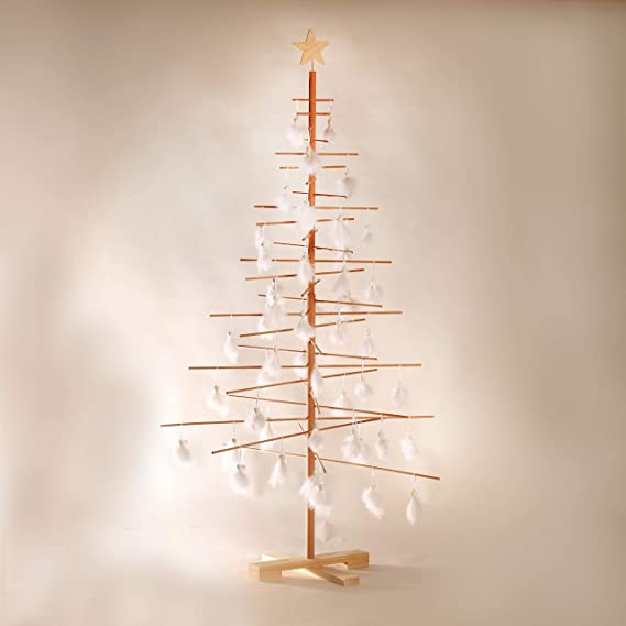 Albero Natale Immagini.Xmas3 L Albero Di Natale In Legno Naturale 100 X 100 X 190 Cm Amazon It Casa E Cucina