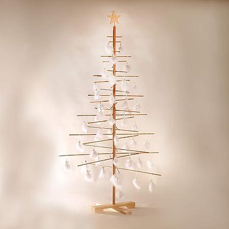 Alberi Di Natale In Legno.Xmas3 L Albero Di Natale In Legno Naturale 100 X 100 X 190 Cm Amazon It Casa E Cucina