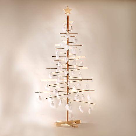 Alberi Di Natale In Legno.Xmas3 L Albero Di Natale In Legno Naturale 100x100x190 Cm
