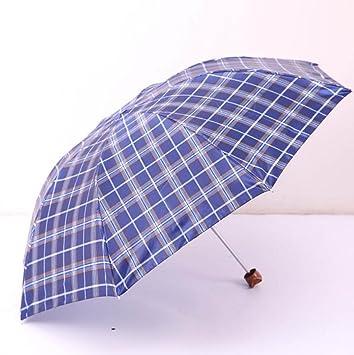 LGZOOT 10 Costillas Tela Escocesa Paraguas Paraguas Plegable Paraguas Viaje Paraguas De La Publicidad,5