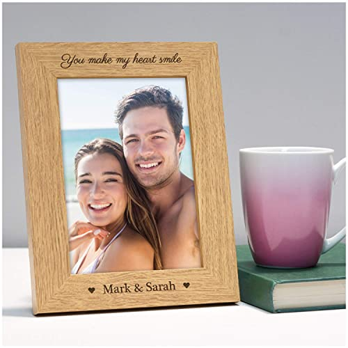 Engraved Photo Frame Personalised Valentines Day Presents And Gifts